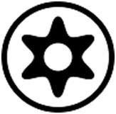 защищённый шлиц Torx